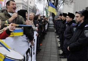 Милиция задействовала почти полторы тысячи сотрудников для охраны порядка в центре Киева