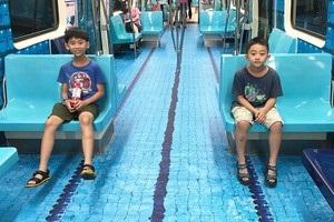 Метро в Тайпеї перетворилося на спортивні майданчики