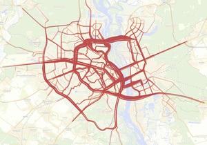 Яндекс назвал самые загруженные дороги Киева