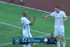 Мілевський став героєм зустрічі Динамо в чемпіонаті Білорусі