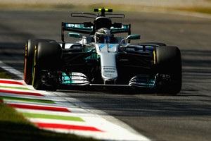 Боттас показал лучшее время на второй практике Гран-при Италии