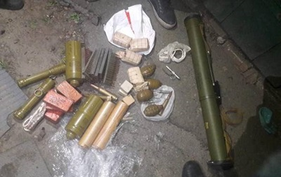 Под Харьковом у бойца АТО изъяли арсенал оружия
