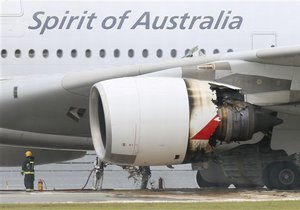 Австралийская авиакомпания назвала возможные причины отказа двигателя A380