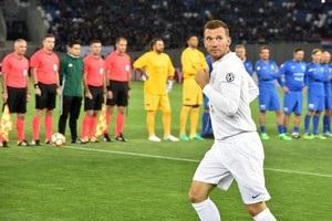 Шевченко відзначився голом у матчі легенд футболу, організованому Каладзе