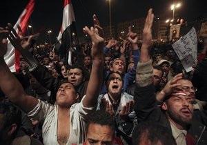 Египетские демонстранты возмущены выступлением Мубарака