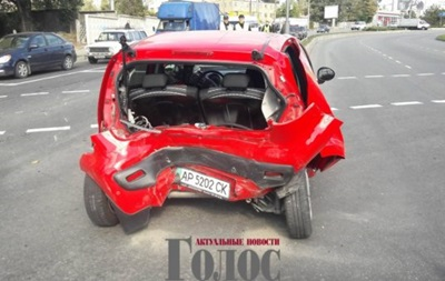 В Запорожье полиция устроила ДТП с пострадавшими
