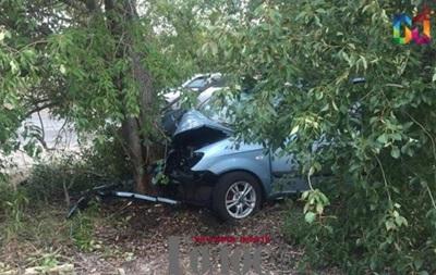В Енергодарі легковик врізався в дерево: є жертви