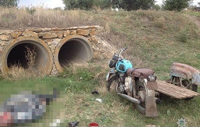 Под Запорожьем разбился мотоциклист