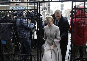 Во время общения Тимошенко с прессой под ГПУ произошел инцидент