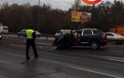 В Киеве Porsche протаранил четыре авто: есть пострадавшие