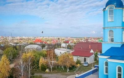 Село под Одессой облетела на дроне икона Божьей Матери