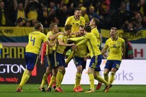 Швеция минимально обыграла Италию в первом матче плей-офф ЧМ-2018