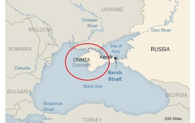 New York Times опубликовала карту со  спорным  Крымом