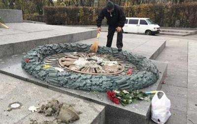 У РФ обурилися, що в Києві залили цементом Вічний вогонь