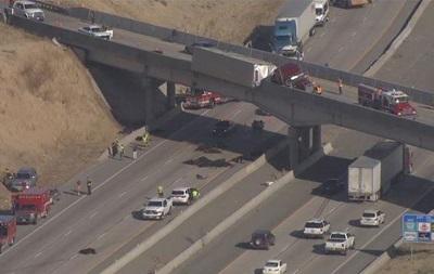 У США корови з перекинутої вантажівки впали з мосту