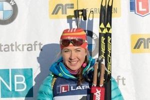 Видео, как Джима стала третьей в спринте в Эстерсунде