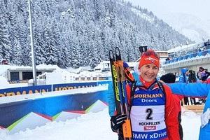 Биатлон: Кузьмина выиграла гонку преследования, Джима забежала  в цветы