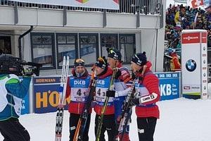 Норвегия выиграла мужскую эстафету, Украина на шестом месте