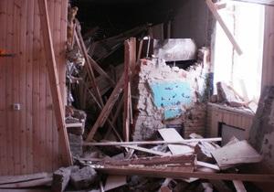 Взрыв в сауне в городе Мена