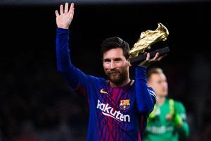 Мессі показав Золоту бутсу на Камп Ноу перед матчем Барселони