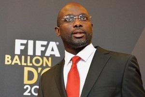 Легендарный форвард Милана стал президентом Либерии