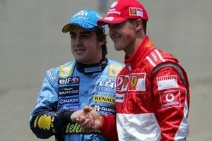 Алонсо вспомнил противостояние с Шумахером в годовщину травмы немца