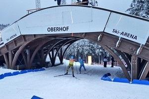 Оберхоф в ожидании биатлона засыпало снегом
