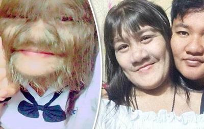 Самая волосатая  девушка в мире вышла замуж