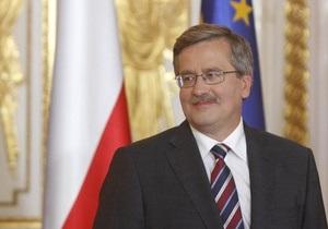 Коморовский вступил в должность президента Польши