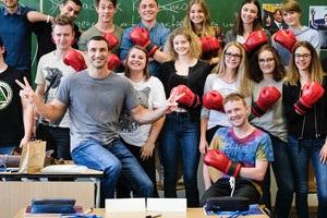 Володимир Кличко провів урок для німецьких гімназистів