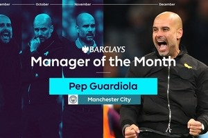 Гвардиола четвертый раз стал лучшим тренером месяца АПЛ