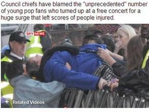 Более 60 человек пострадали из-за давки на концерте в Британии