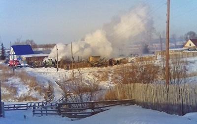 В России сгорел дом Ельцина