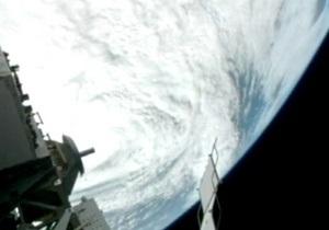 Ураган Сэнди из космоса