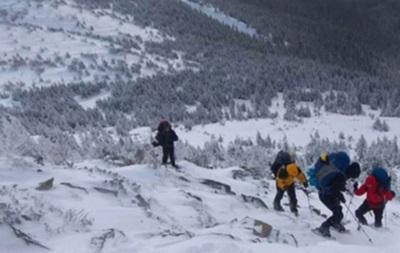В Карпатах спасли четырех туристов