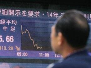 Японский индекс Nikkei показал сегодня самое значительное падение с 1987