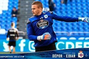 Коваль пропустив гол і отримав червону картку в матчі за  Депортіво