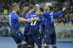 Динамо поступилося Лаціо і вилетіло з Ліги Європи