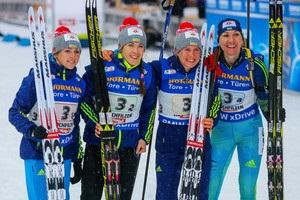 Украина назвала состав на последнюю женскую эстафету в сезоне