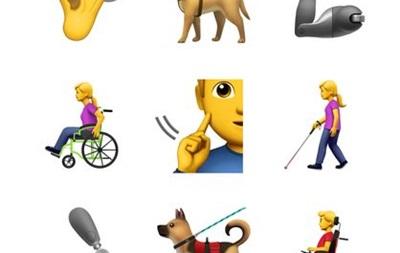 Apple запропонувала емодзі із зображенням інвалідності