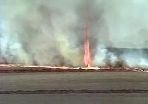 Огненный торнадо в Бразилии