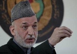 Карзай просит НАТО прекратить военные операции в Афганистане