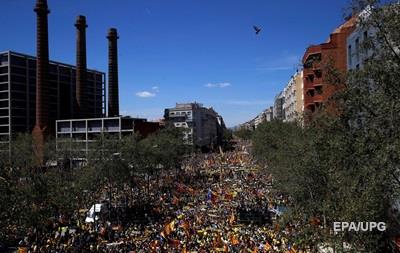 Каталонцы поддержали арестованных политиков