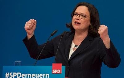 Немецких социал-демократов впервые возглавила женщина