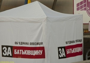 Вопреки ожиданиям УДАРа, Батьківщина сняла в Киеве лишь одного кандидата