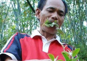 Китаец два года питается только листьями и травой