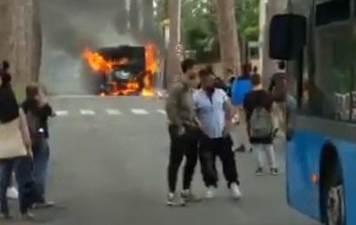В Риме второй раз за день горел автобус