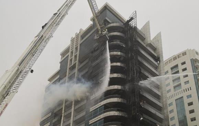 В Дубае горел небоскреб