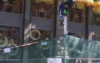 На Крещатике обвалился балкон