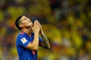 Родригес остался плакать на скамейке запасных после поражения Колумбии от Англии
